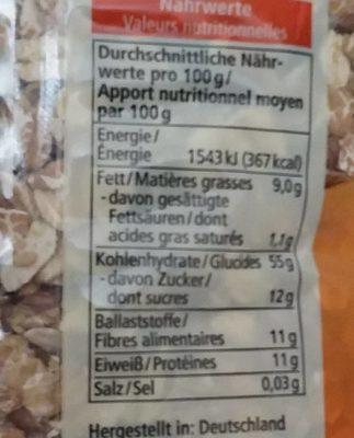 Maxi Müsli - Informations nutritionnelles - fr
