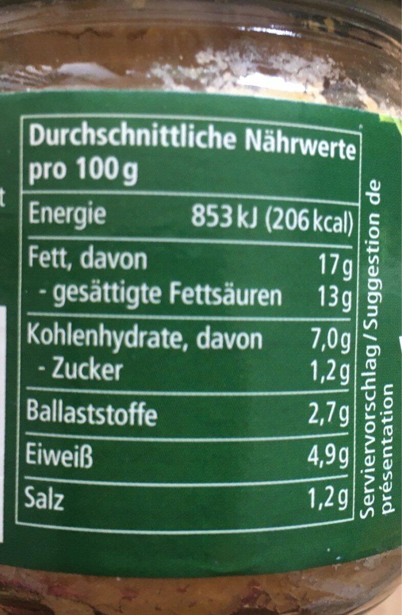 Alnatura Hummus Natur Houmous Nature - Nutrition facts