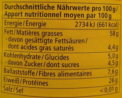 Mandelmus weiß - Informations nutritionnelles - de