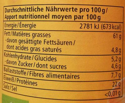 Mandel Mus weiß - Nutrition facts - de