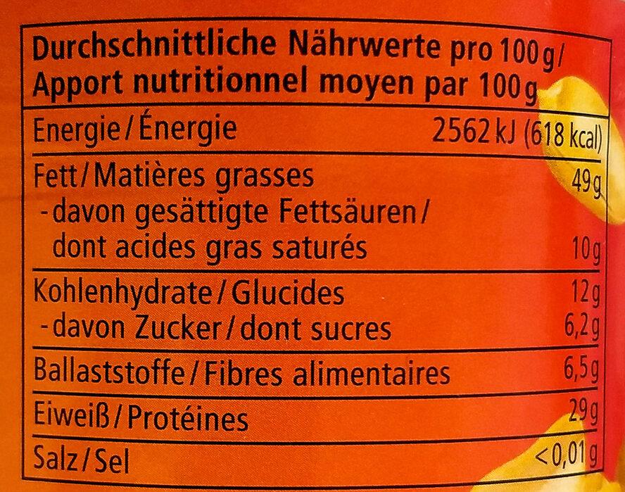 Erdnuss Mus - Nutrition facts - de
