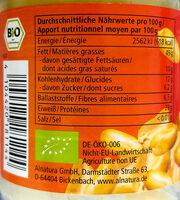 Erdnuss Mus - Informations nutritionnelles