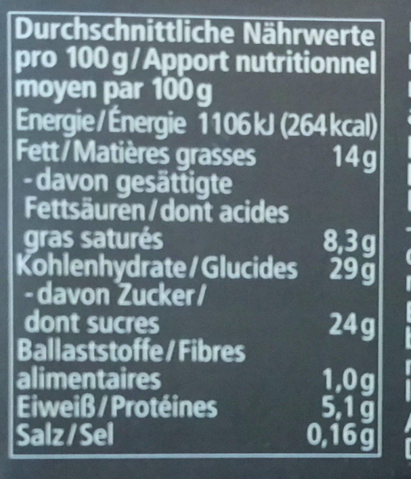 Tiramisu alnatura - Nutrition facts