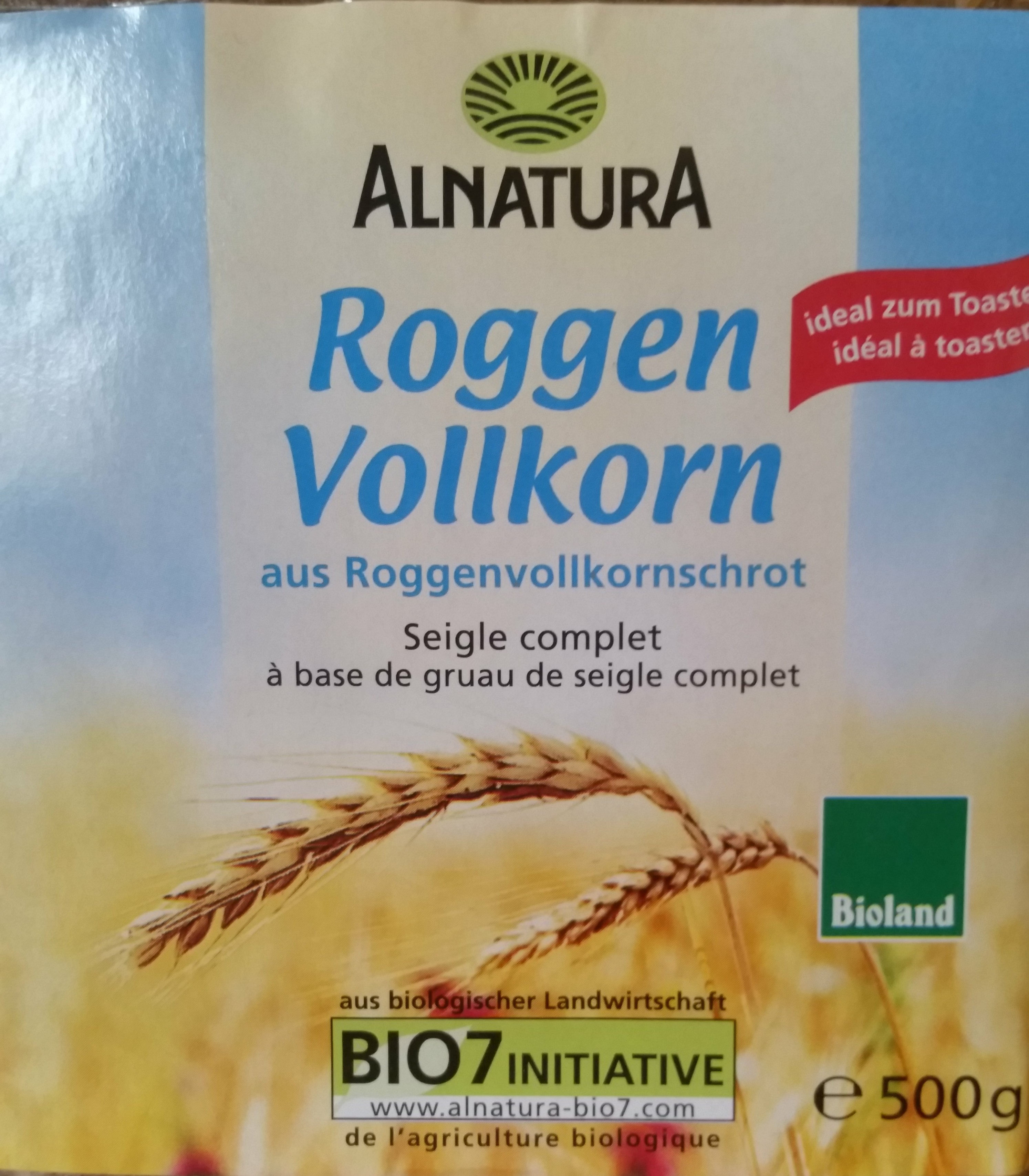 Bio Roggenvollkornbrot aus Roggenvollkornschrot - Product