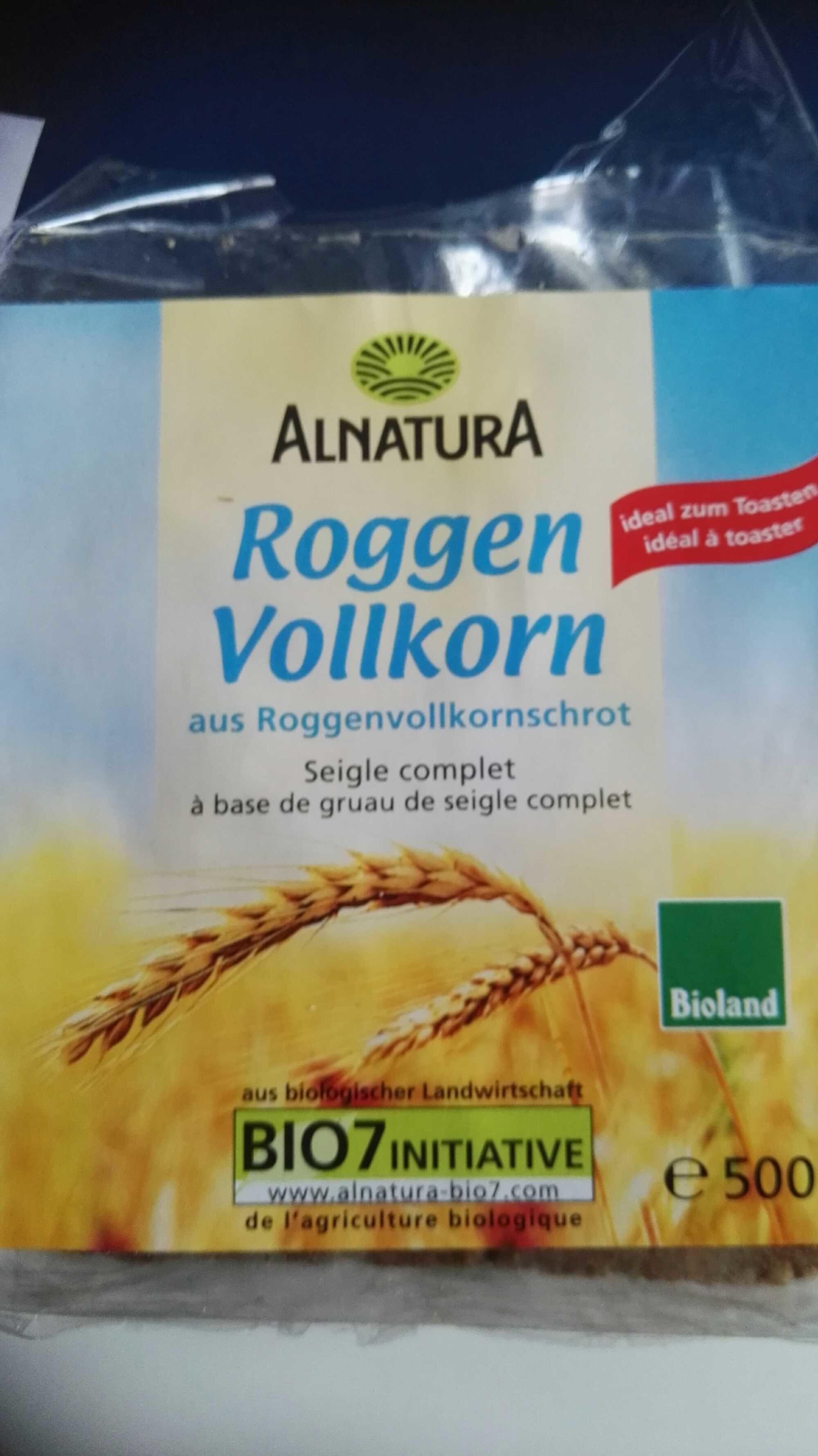 Bio Roggenvollkornbrot aus Roggenvollkornschrot - Produit - fr