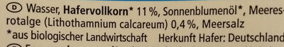 Hafer Drink Calcium - Ingredients - de