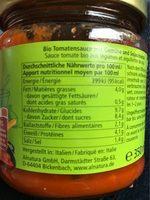 Bolognaise végétarienne - Voedingswaarden - fr