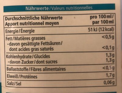 Kokosdrink - Nutrition facts - de