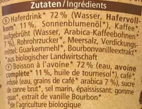 Cappuccino - Ingredients - de