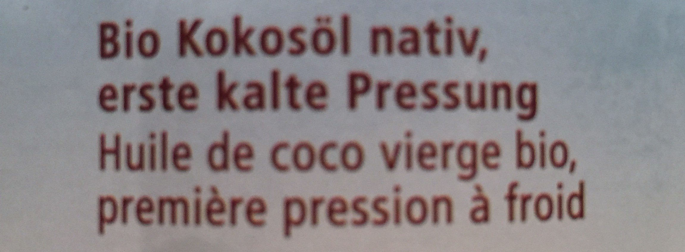 Kokosöl nativ - Ingredients