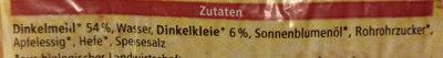 Dinkel Toast - Ingredients