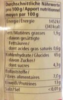 Spaghetti - Nutrition facts - de