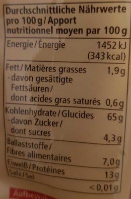Spaghetti - Nutrition facts - en