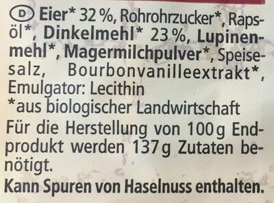 Dinkel Eier Waffeln - Ingredients - de