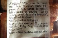 Gaufres à l'épeautre et aux oeufs frais - Inhaltsstoffe