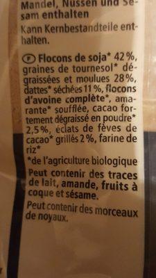 Bouillie proteinée - Ingrediënten