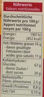 Dinkel Butterkeks - Informations nutritionnelles - de