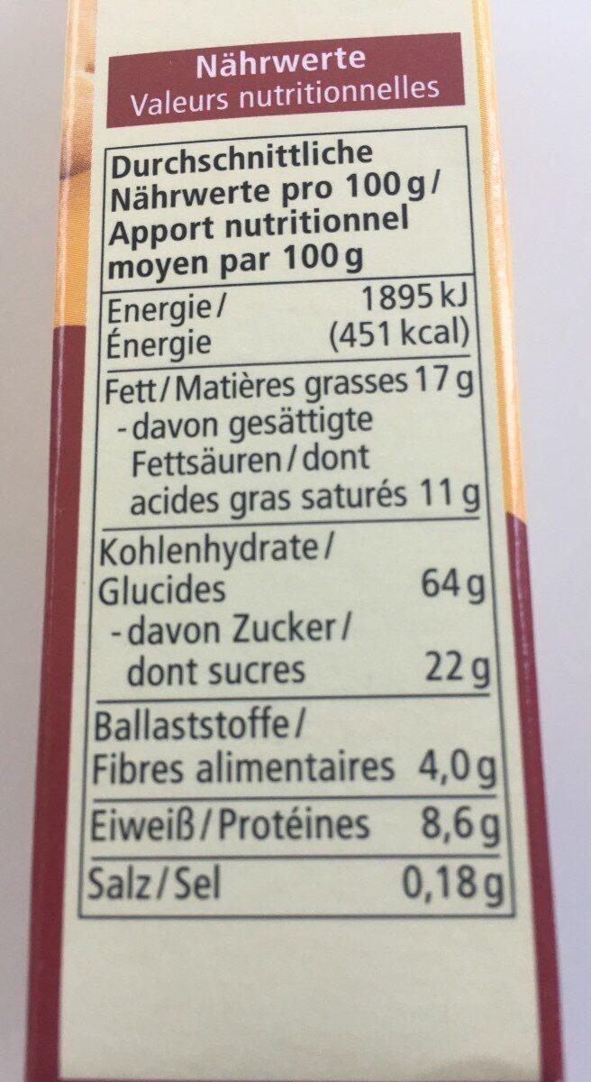 Dinkel Butterkeks - Nutrition facts - de