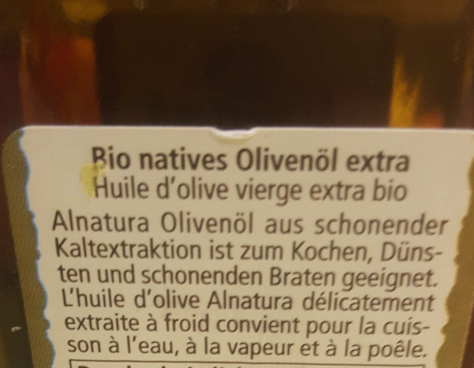 Natives olivenöl extra - Ingredients