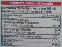 Multisaft - Voedingswaarden - de