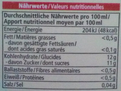 Multisaft - Nutrition facts
