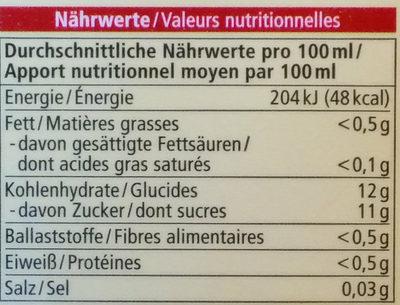 Jus de clementine - Nutrition facts