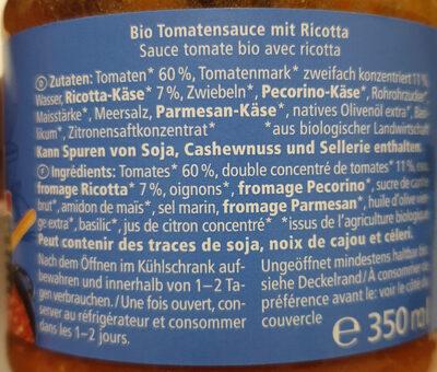 Ricotta - Ingredients - de