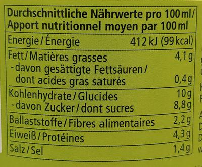 Vegetarische Soja-Bolognese mit Gemüse - Nutrition facts