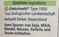 Dinkelmehl - Ingredients - en