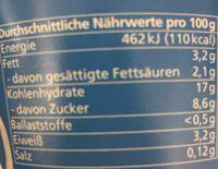 Milchreis natur - Nutrition facts