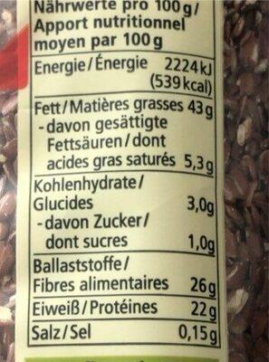 Leinsamen - Nutrition facts - en