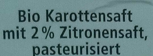 Karottensaft - Zutaten - de