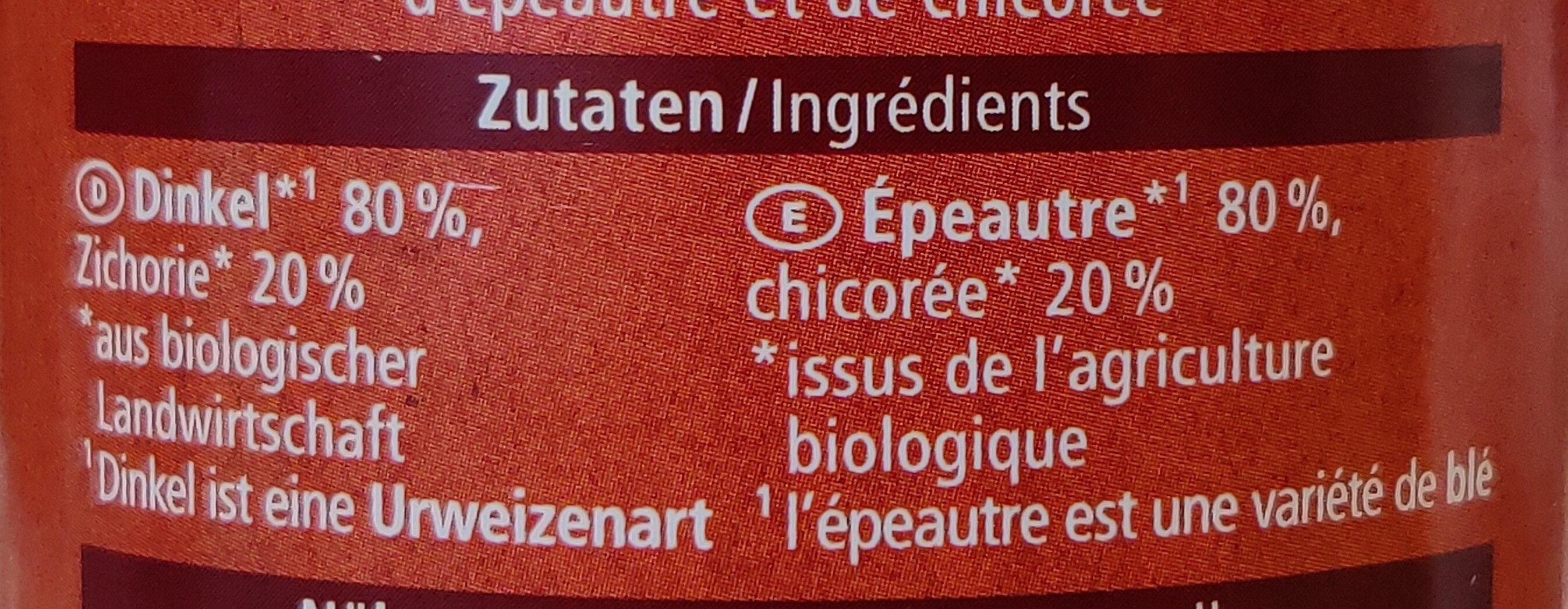 Dinkel Kaffee mit Zichorie - Ingredienti - de