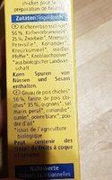 Falafel - Ingredienti - de