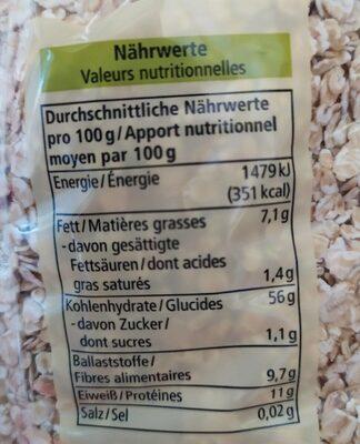 Flocons d'avoine - Nutrition facts - fr
