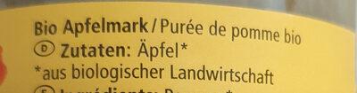 Apfelmark - Ingredienti - de
