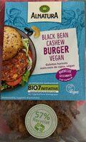 Black Bean Cashew Burger vegan - Produkt - de