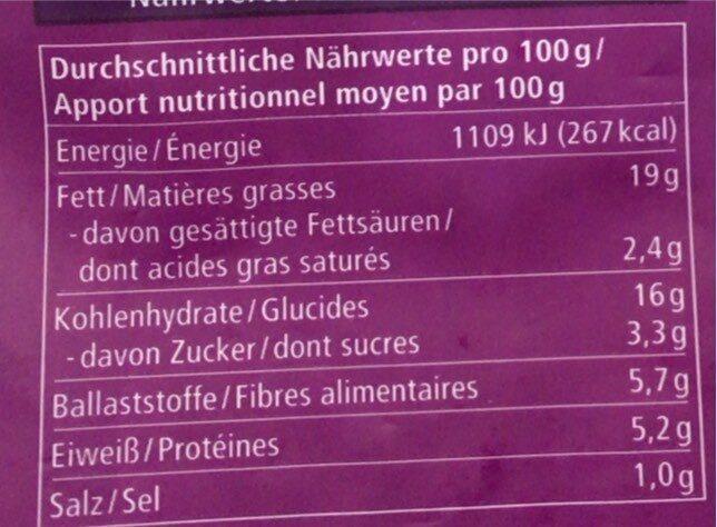 Kartoffel-Möhren Sticks - Nährwertangaben - de