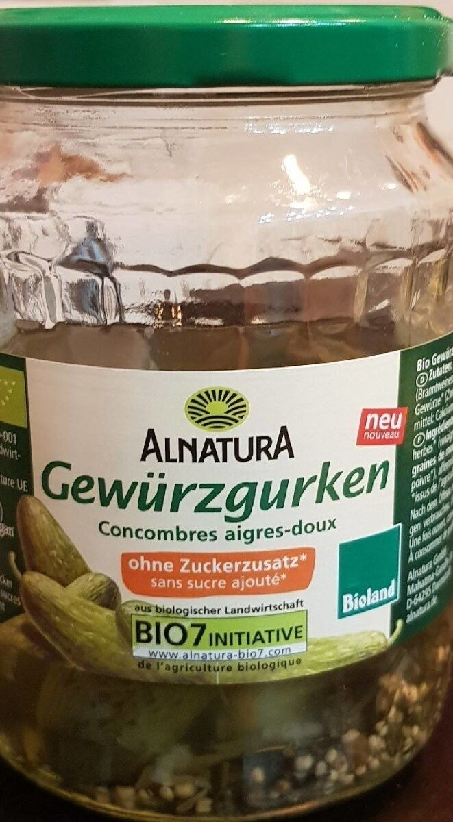 Alnatura Gewürzgurken - Produkt - de