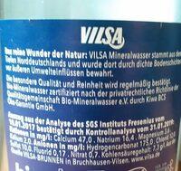 Natürliches Mineralwasser - Nährwertangaben - de