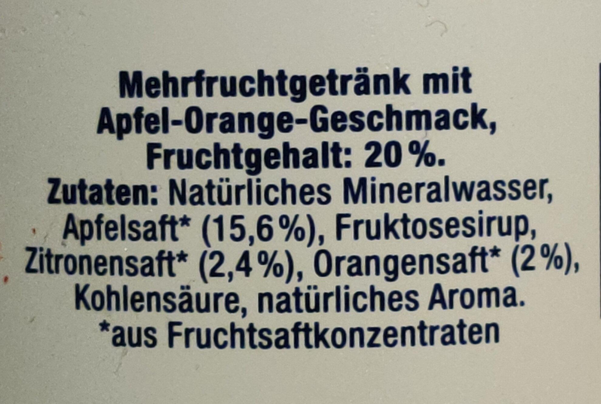 H2OBST Leicht prickelnd - Ingrédients