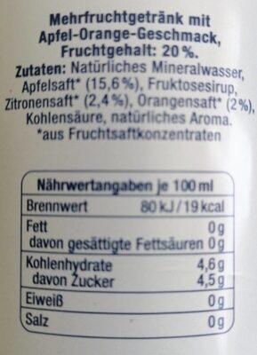 Vilsa h2obst - Nährwertangaben - de