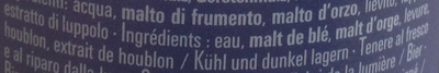 Weissbier - Ingredients - fr