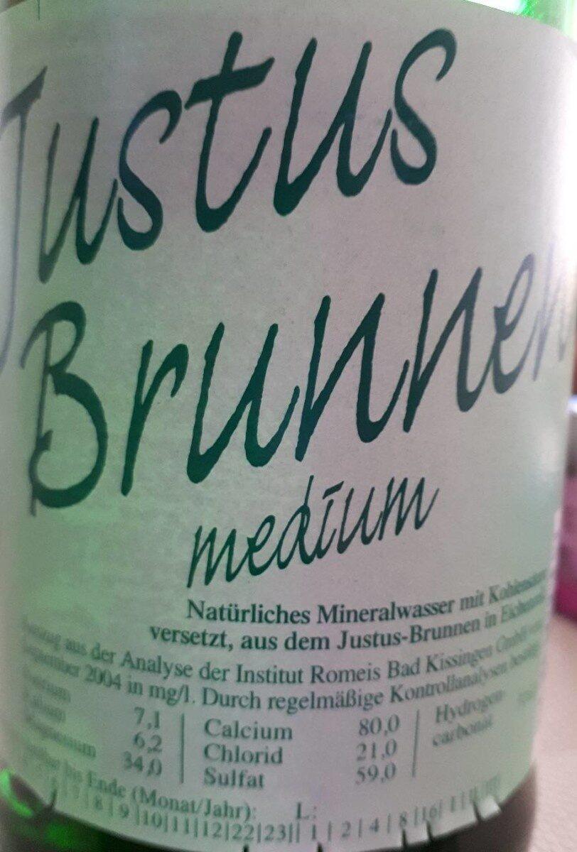 Justus Brunnen Mineralwasser Medium - Produkt - de