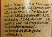 Grünland BIO-Tomaten-Gemüsesaft - Ingredients