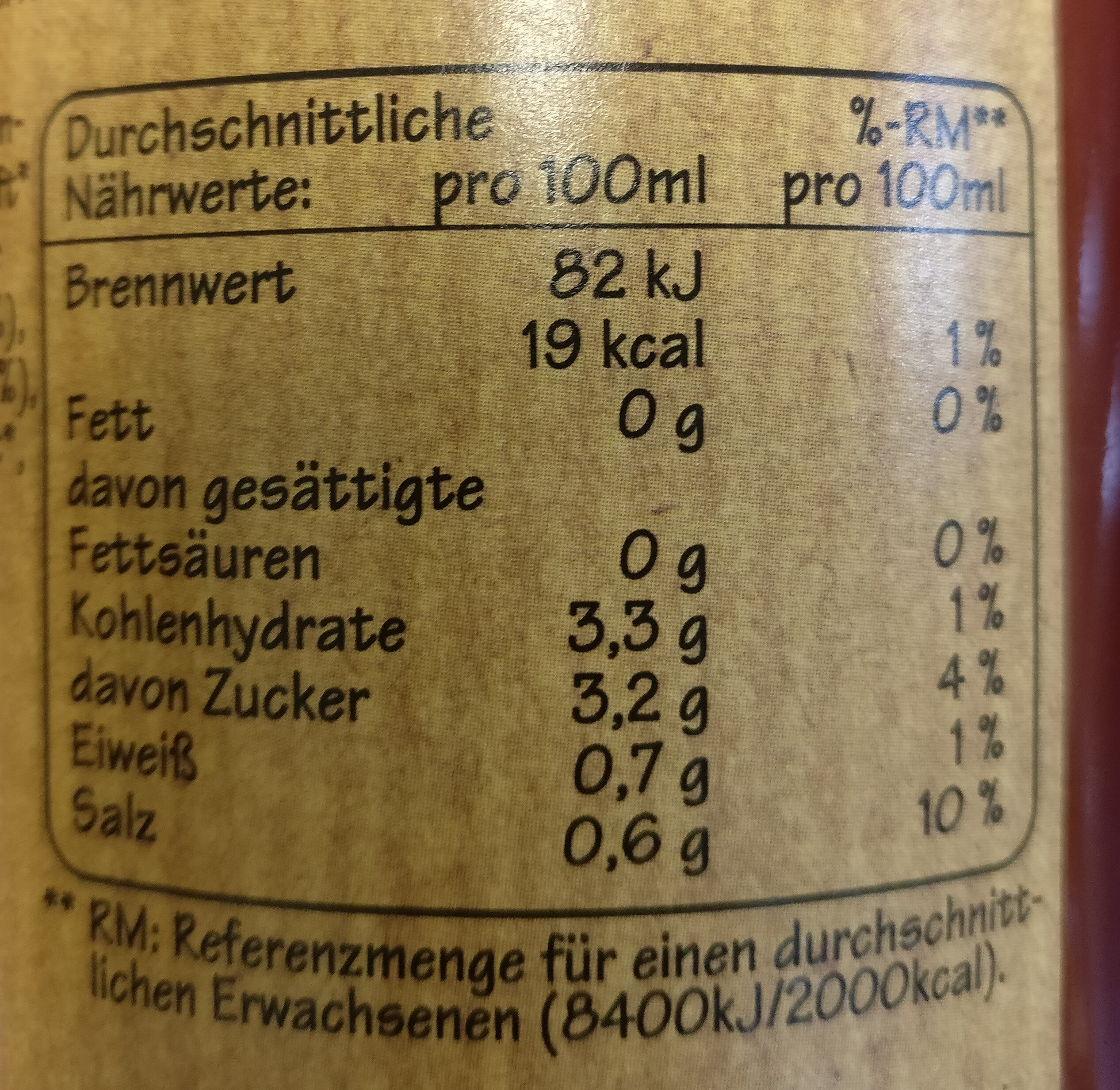 Grünland BIO-Tomaten-Gemüsesaft - Nutrition facts