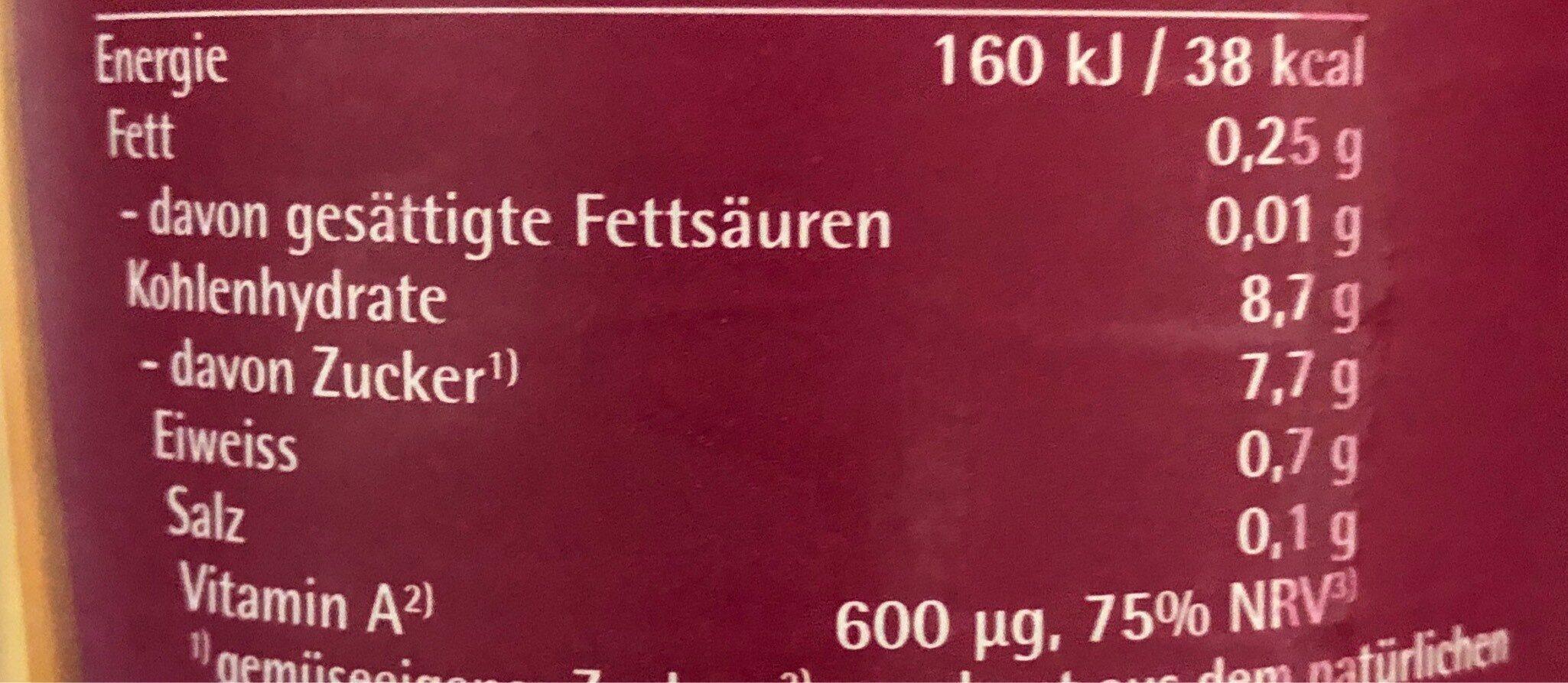 Beutelsbacher - Valori nutrizionali - fr