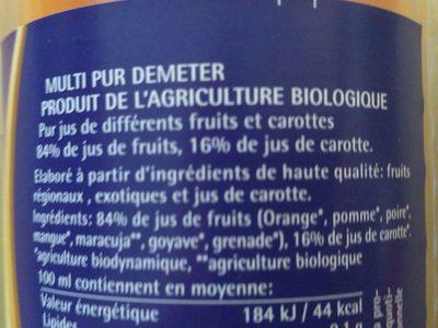 Jus Multi Pur - Ingredients - fr