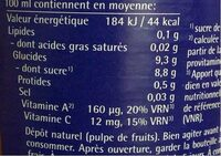 Jus Multi Pur - Nutrition facts - fr