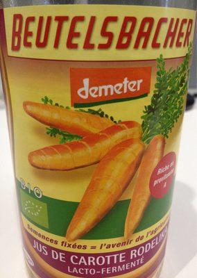 75CL Jus Carotte Rodelika Lacto-fermente - Product - fr